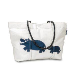 Segeltuchtasche Westwind Hippo Blau